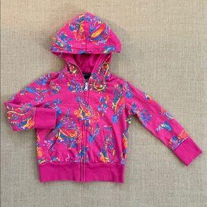 EUC Ralph Lauren full zip paisley hoodie